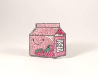 Strawberry Milk - Iron-On Patch
