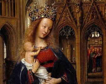 Jan van Eyck pendant - the Madonna in the church - FREE SHIPPING