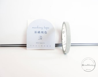 washi tape thin pastel grey
