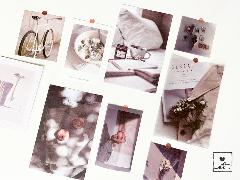 Aesthetic Wall Collage kit  Cozy Academia style wall image 0