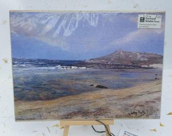 Misty Day, Porthmeor, St Ives Print by Cornish Artist Lindsey Keates