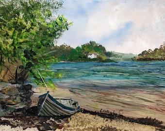 Pill Creek, River Fall - Print by Cornish Artist Lindsey Keates