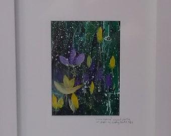 Crocus Framed Print by Cornish Artist, Lindsey Keates