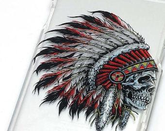 Native American Headdress, Phone Case, Transparent, Clear iPhone Case, iPhone 6, iphone 7, iphone 6 plus, iphone 7 plus, iphone 5, iphone se