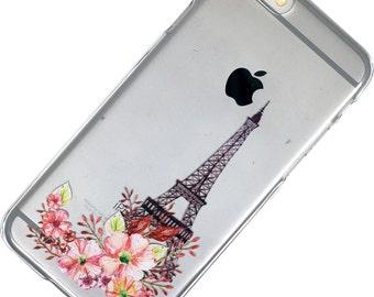 Paris iphone case watercolor Transparent Clear Phone Case iPhone 6, 7, SE, 6 Plus, 7 Plus, 6S, 5, 5C, 5S, Galaxy S6, S7, Note 5, Note 7
