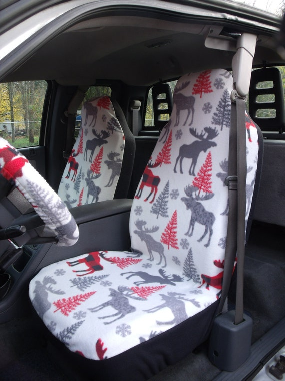 Swell A Set Of Famo Patterned Moose Print Seat Covers And Steering Wheel Cover Custom Made Pabps2019 Chair Design Images Pabps2019Com
