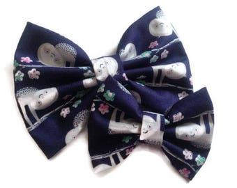 Sloth Hair Bow | Fabric Bow | Handmade Hair Bow | Hair Clip | Headband