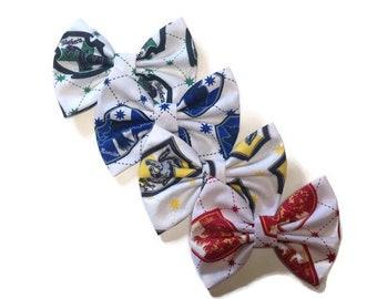 Harry Potter Bow   Fabric Bow   Handmade Hair Bow   Hair Clip   Headband