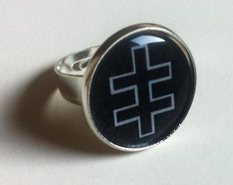 Marilyn Manson Celebritarian Cross Ring