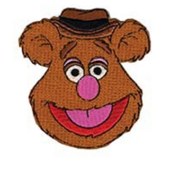 """4/"""" Muppet babies baby fozzy fozzie vintage fabric applique iron on character"""