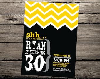 Western 5 x 7 Printable Surprise Birthday Party Invitation
