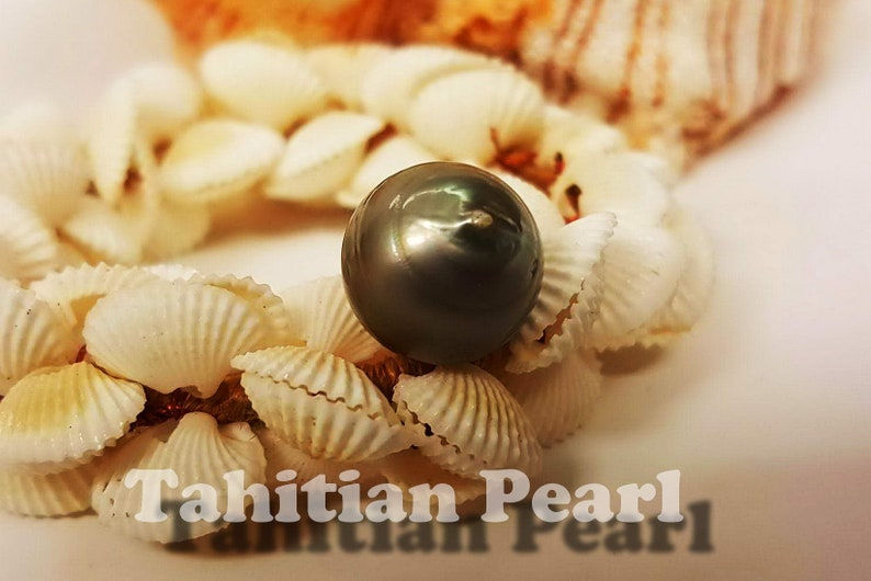 13MM Genuine Tahitian Pearl Beautiful Organic Off shapes One Of A Kind Jewelry Project Supply UN-Drill WEC6011