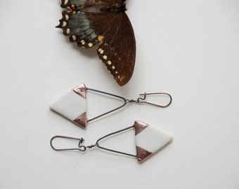 Single Triangle Earrings