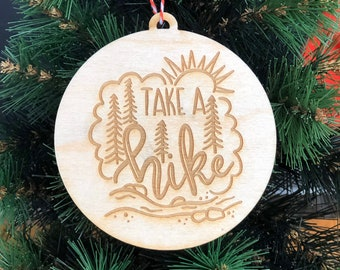 road trip ornaments adventure custom gifts hiking ornaments National Park ornament gifts I/'d hike that personalized Christmas Ornament