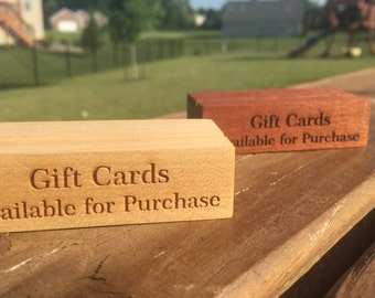 Gift Card Stands