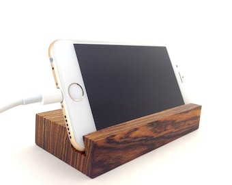 iPhone 6 Stand Bocote Wood