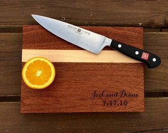 Personalized Cutting Board ( wedding / housewarming / corporate gift / engraved/ wedding shower )