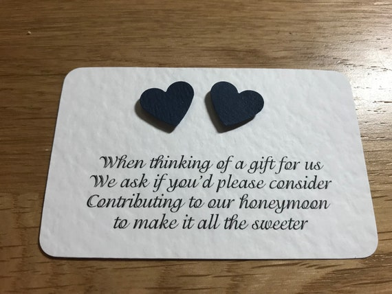 Wedding Poem Cards Heart Design Requesting Cash Toward Etsy