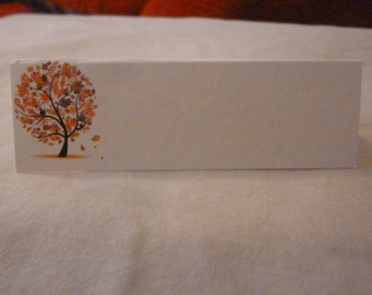 50 Wedding Place Cards for your Guest Names - Autumn Tree Design