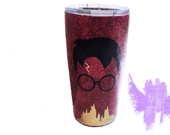 Custom - magical - wizards - and - witchcraft -Sorcery - glitter - coffee - and - tea - tumbler.