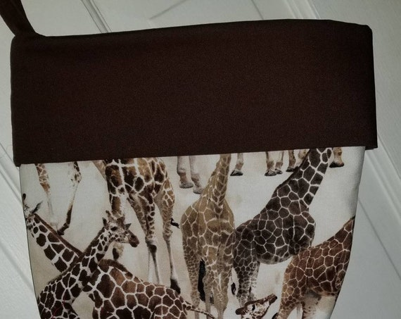 Giraffe Christmas Stocking