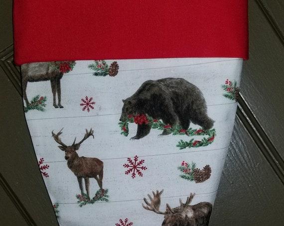 Moose, Bear, Deer Christmas Stocking