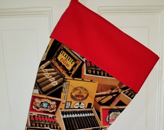 Cigar Christmas Stocking
