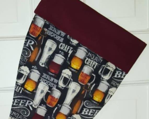 Beer Christmas Stocking