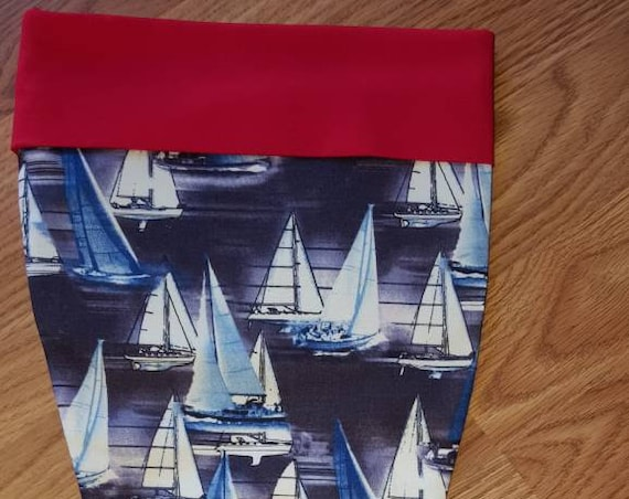 Sail Boat Christmas Stocking