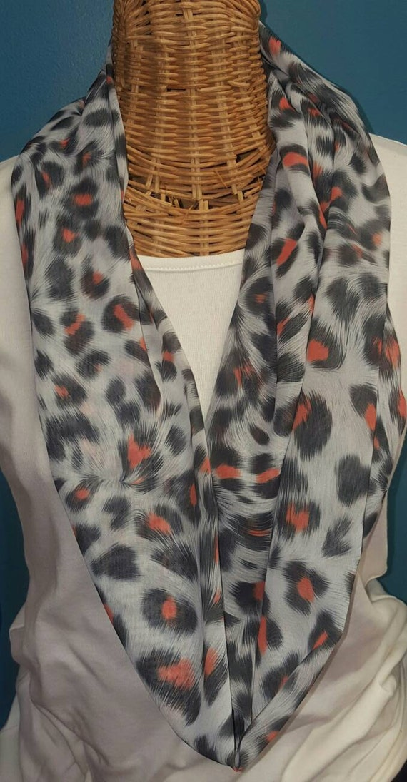 Leopard Print Single Wrap Scarf