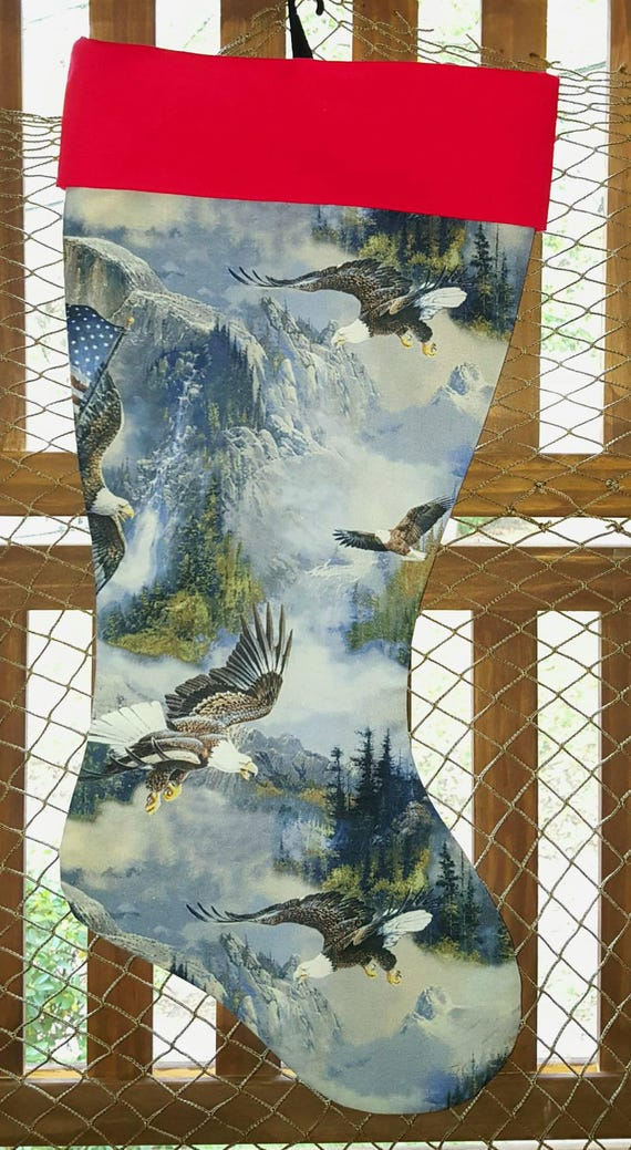 Bald Eagle Christmas Stocking