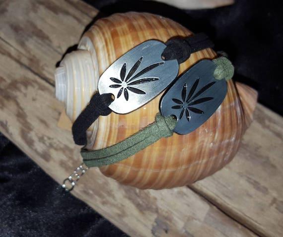 Marijuana Leaf Bracelet