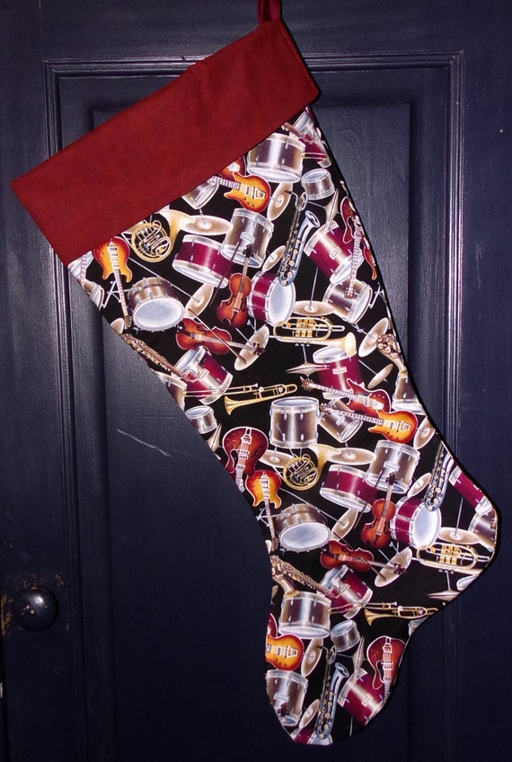 Instrument Christmas Stocking