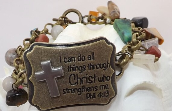 I can do all things through Christ who strengthens me Bracelet