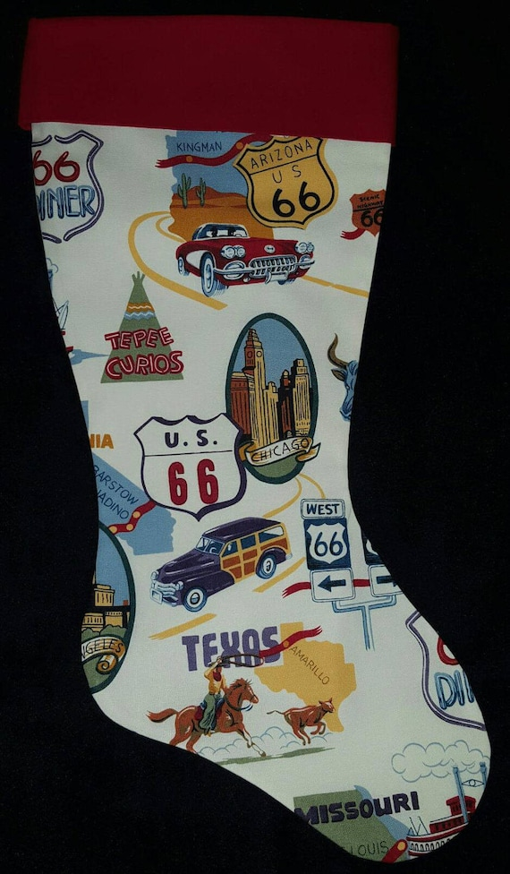 Route 66 Christmas Stocking