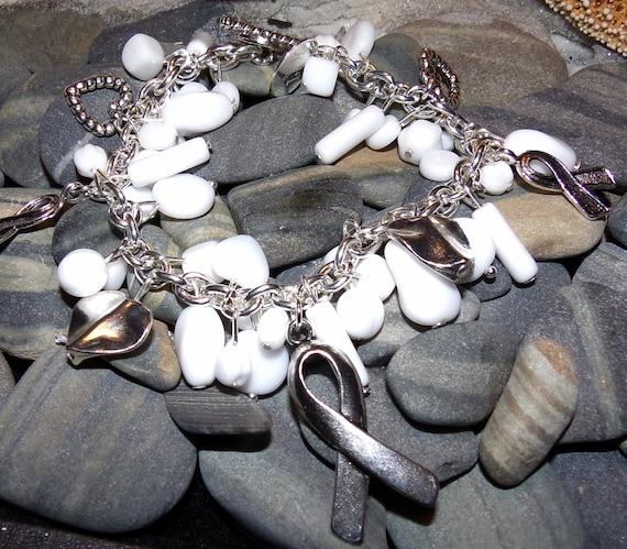 White Awareness Bracelet