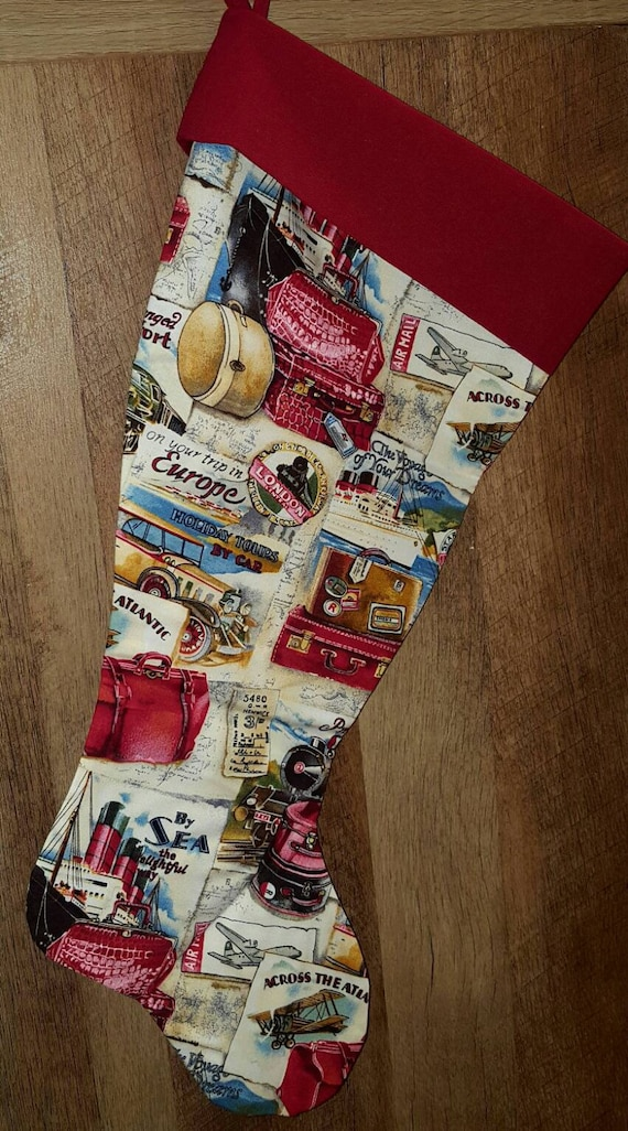 Travel Christmas Stocking