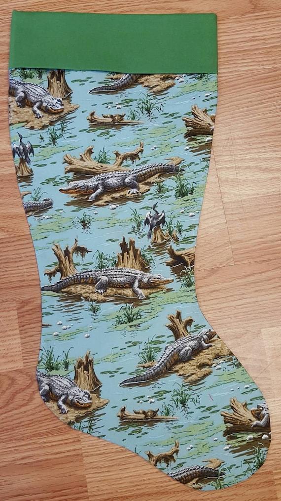 Alligator Christmas Stocking