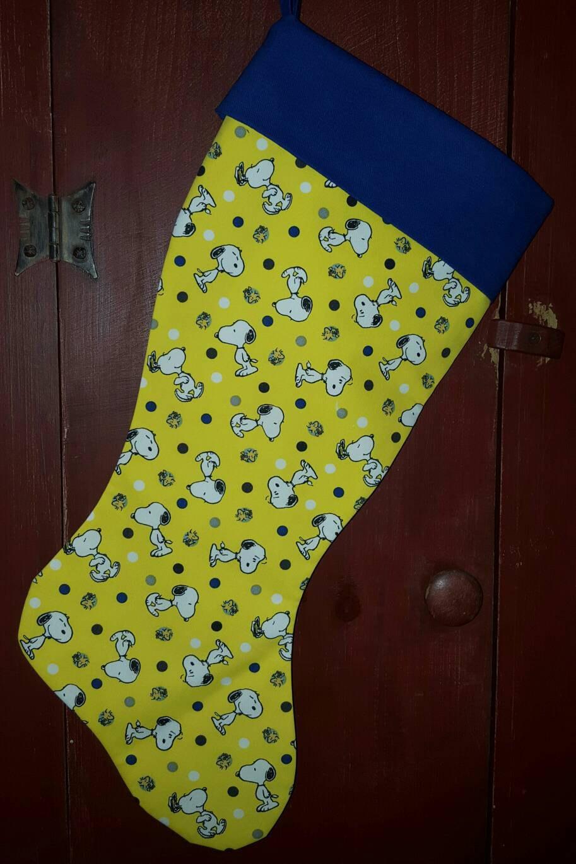snoopy christmas stocking - Snoopy Christmas Stocking