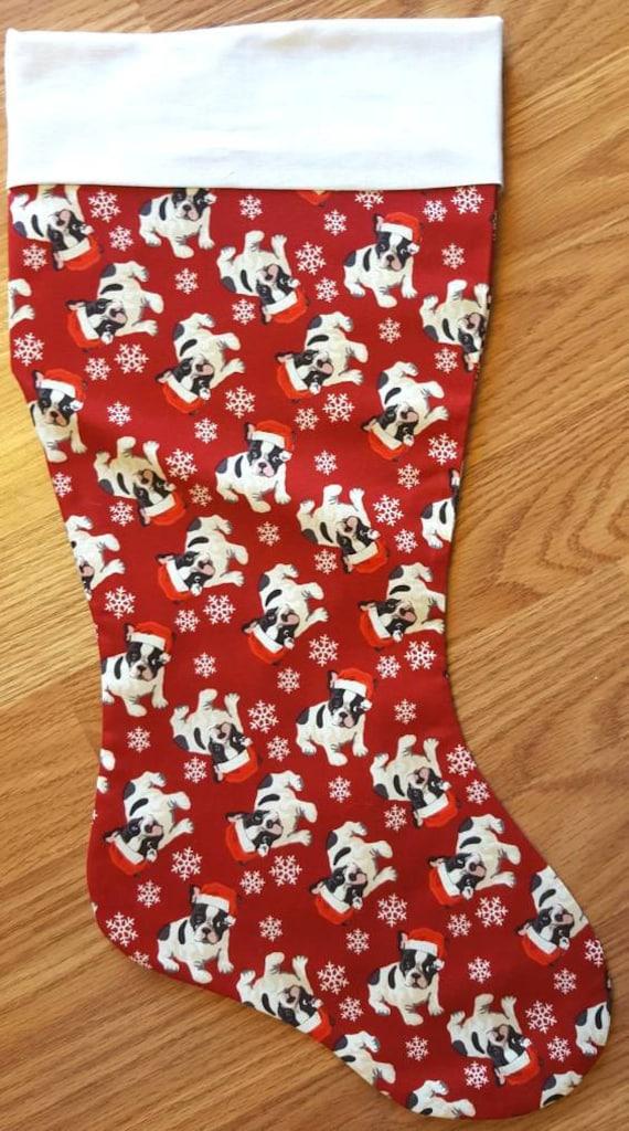 Christmas Bulldog Christmas Stocking