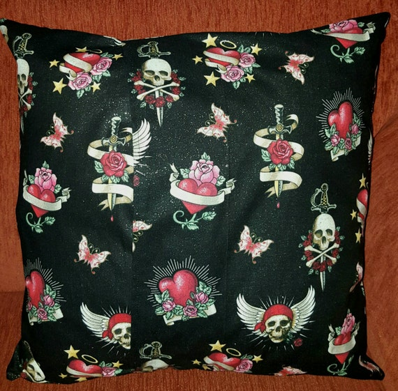 Skulls &Roses Pillow Cover