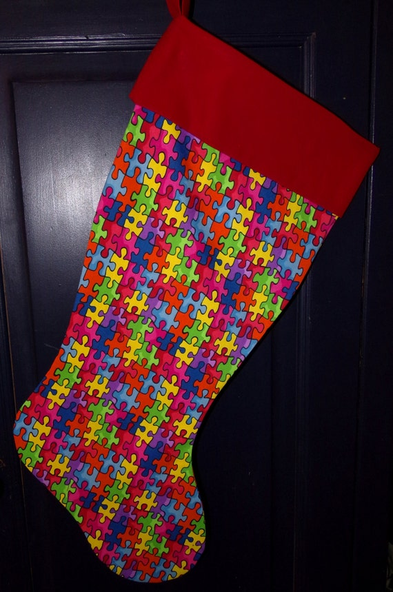 Autism Awareness Christmas Stocking