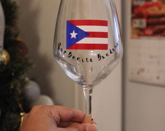 Puerto Rico Wineglass for Distater Relief