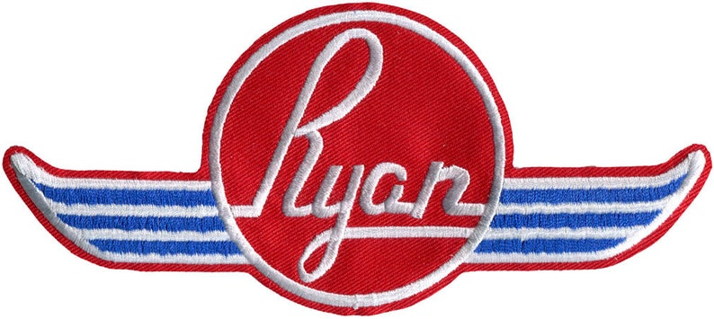 Ryan Aircraft Logo Embroidered Patch Large Jacket Patch image 0