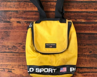 Vintage90s Polo Sport U.S.A Bag Mini rucksack FreeShipping.