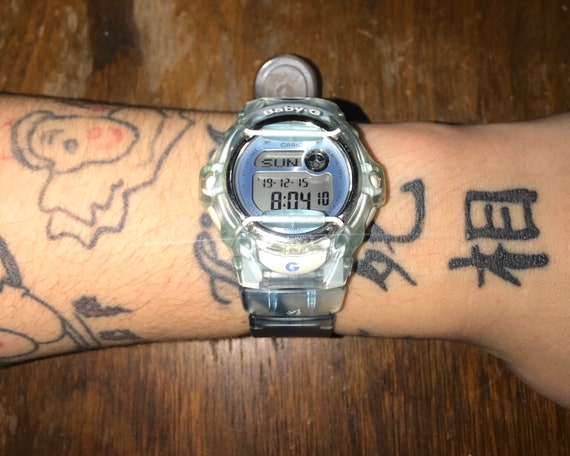 Women's baby blue digital baby-G watch