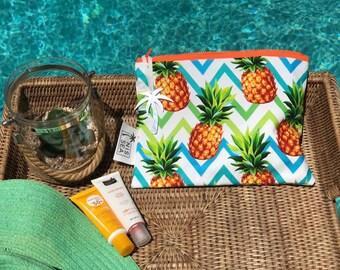 Pineapple Waterproof zip pouch