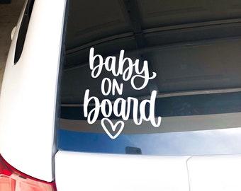 Personalized stars Baby on Board cool kids car van window sticker many colours