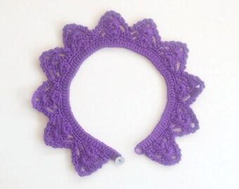 Collar, Purple Collar, Purple Peter Pan, Crochet Collar was 24 - now 14