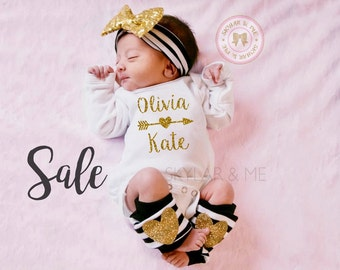 Custom Baby Girl  | Baby Girl Coming Home Outfit | Personalized Baby Girl | Newborn Baby Girl | Baby Girl Take Home Outfit